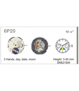 Máquina o movimiento para reloj MIYOTA 6P20