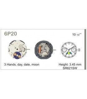 Meccanismo Orologio Ref MIYOTA 6P20