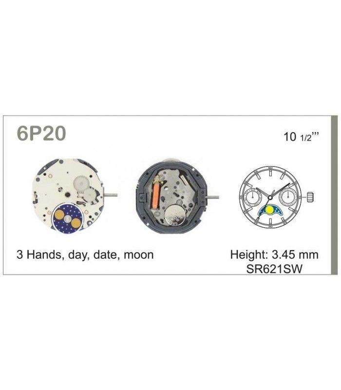 Movement for watches, MIYOTA 6P20