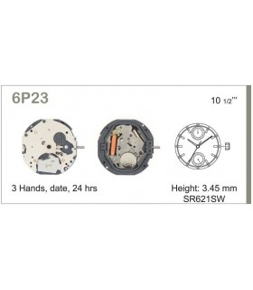 Movement for watches, MIYOTA 6P23