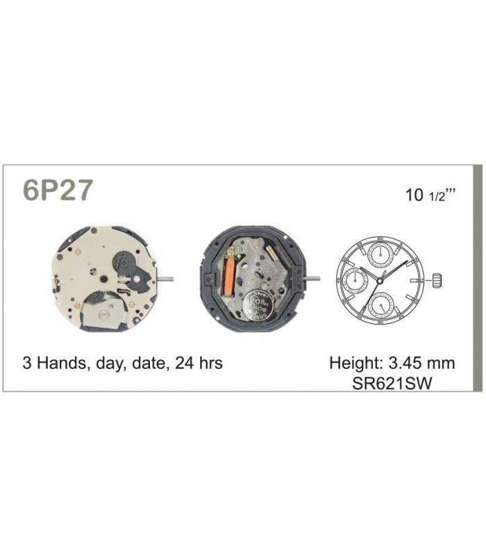 vements de montre, MIYOTA 6P27