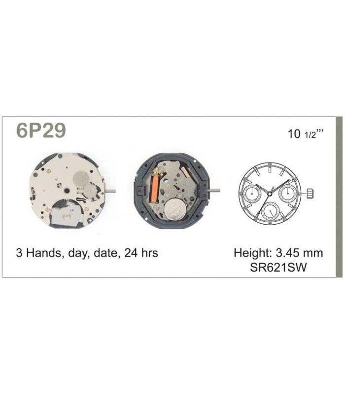 vements de montre, MIYOTA 6P29