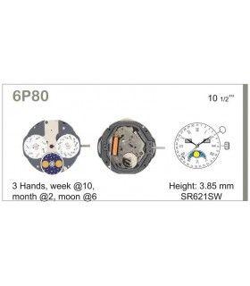 Maquinaria de reloj Ref MIYOTA 6P80