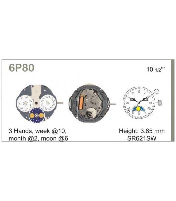 Meccanismo Orologio Ref MIYOTA 6P80