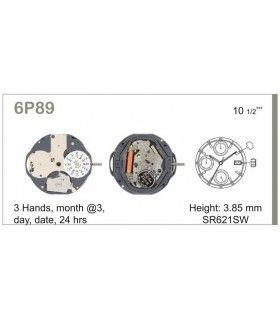 Maquinaria de reloj Ref MIYOTA 6P89