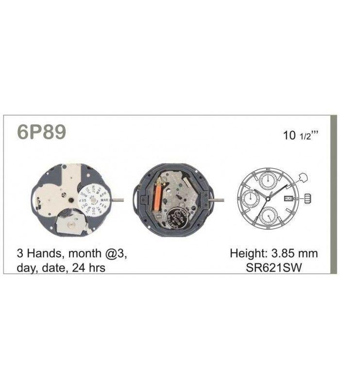 Máquina o movimiento para reloj MIYOTA 6P89