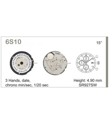 Mecanisme montre Ref MIYOTA 6S10