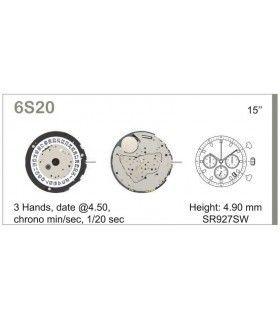 Maquinaria de reloj Ref MIYOTA 6S20