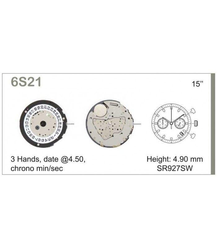 Uhrwerke, MIYOTA 6S21