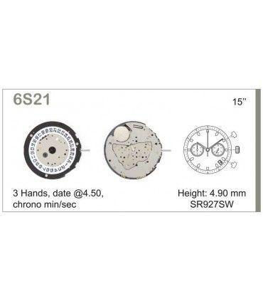 Maquinaria de reloj Ref MIYOTA 6S21