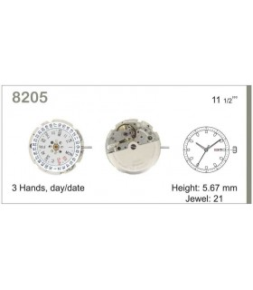 Maquinaria de reloj Ref MIYOTA 8205