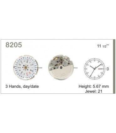 Uhrwerke Ref MIYOTA 8205