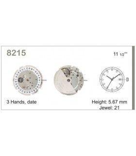 Maquinaria de reloj Ref MIYOTA 8215