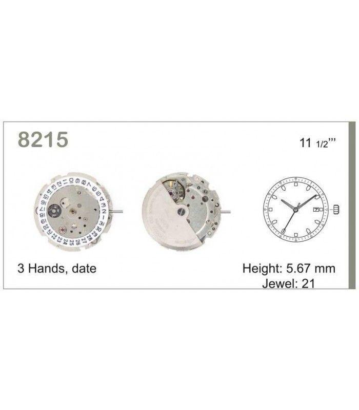 Máquina o movimiento para reloj MIYOTA 8215