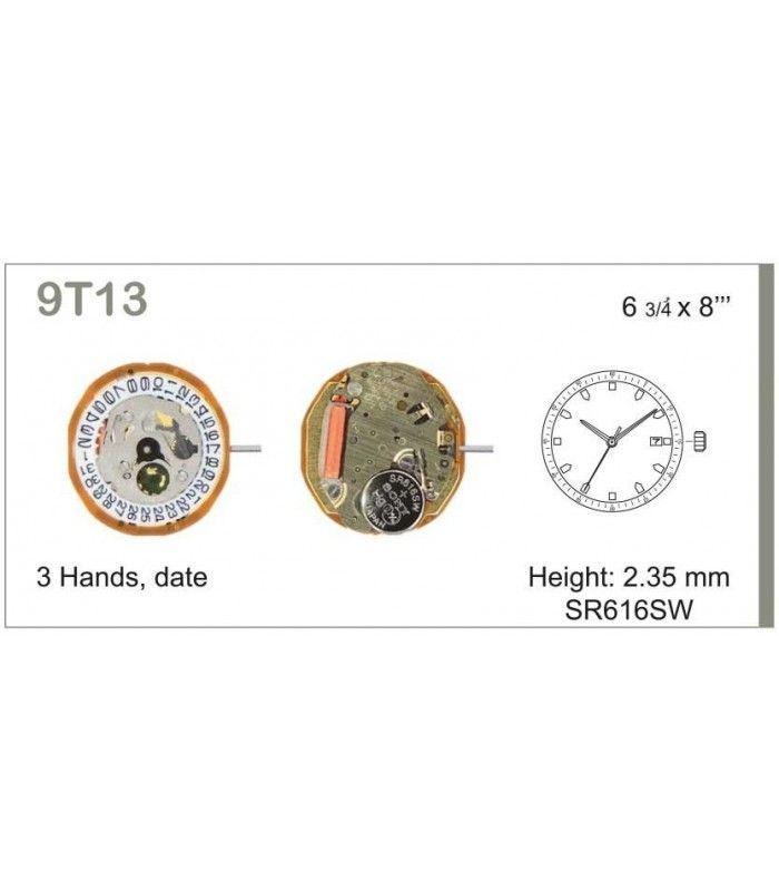 Máquinas ou movimentos para relógio, MIYOTA 9T13