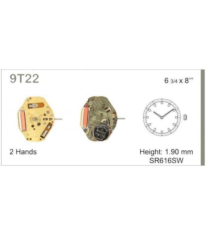 Máquinas ou movimentos para relógio, MIYOTA 9T22