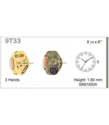 Maquinaria de reloj Ref MIYOTA 9T33