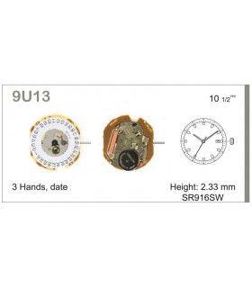 Máquinas ou movimentos para relógio, MIYOTA 9U13