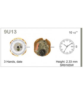 Movement for watches, MIYOTA 9U13