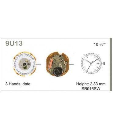 Maquinaria de reloj Ref MIYOTA 9U13