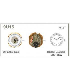 Máquinas ou movimentos para relógio, MIYOTA 9U15