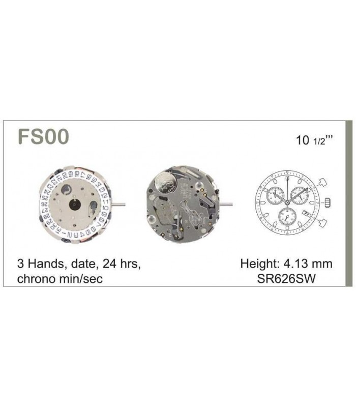 Movement for watches, MIYOTA FS00