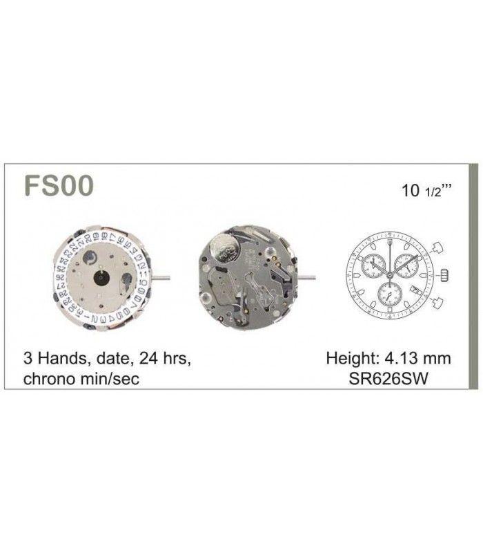 Máquinas ou movimentos para relógio, MIYOTA FS00