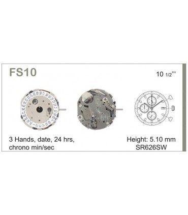 Maquinaria de reloj Ref MIYOTA FS10