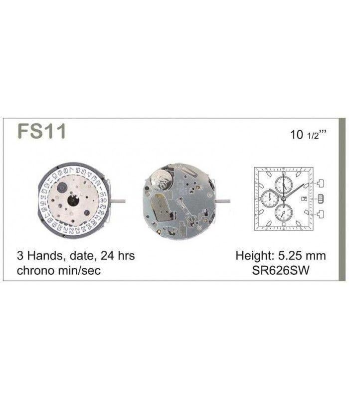 Máquinas ou movimentos para relógio, MIYOTA FS11