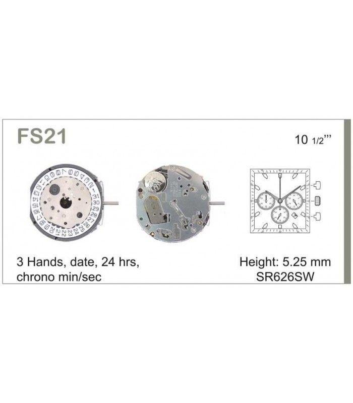Meccanismo Orologio Ref MIYOTA FS21