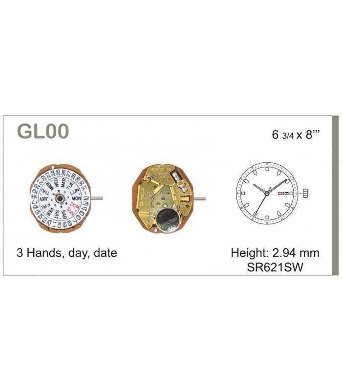 Meccanismo Orologio Ref MIYOTA GL00