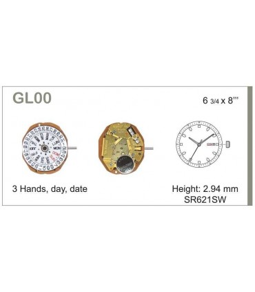 Mecanisme montre Ref MIYOTA GL00