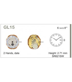 Meccanismo Orologio Ref MIYOTA GL15