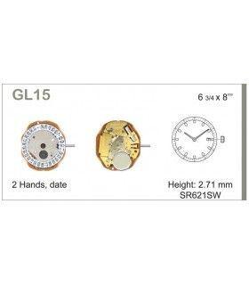 Uhrwerke Ref MIYOTA GL15