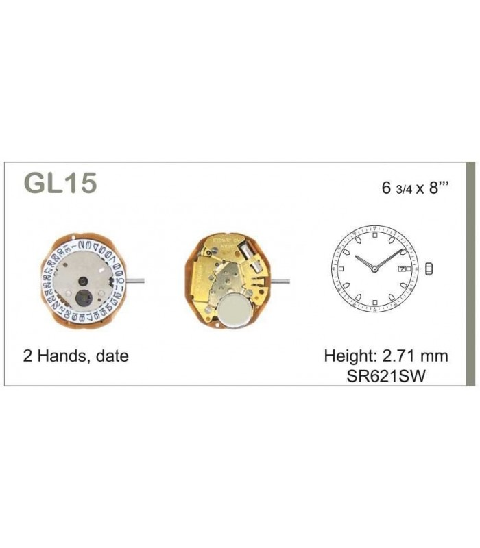 Movement for watches, MIYOTA GL15