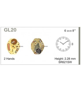 Mecanisme montre Ref MIYOTA GL20