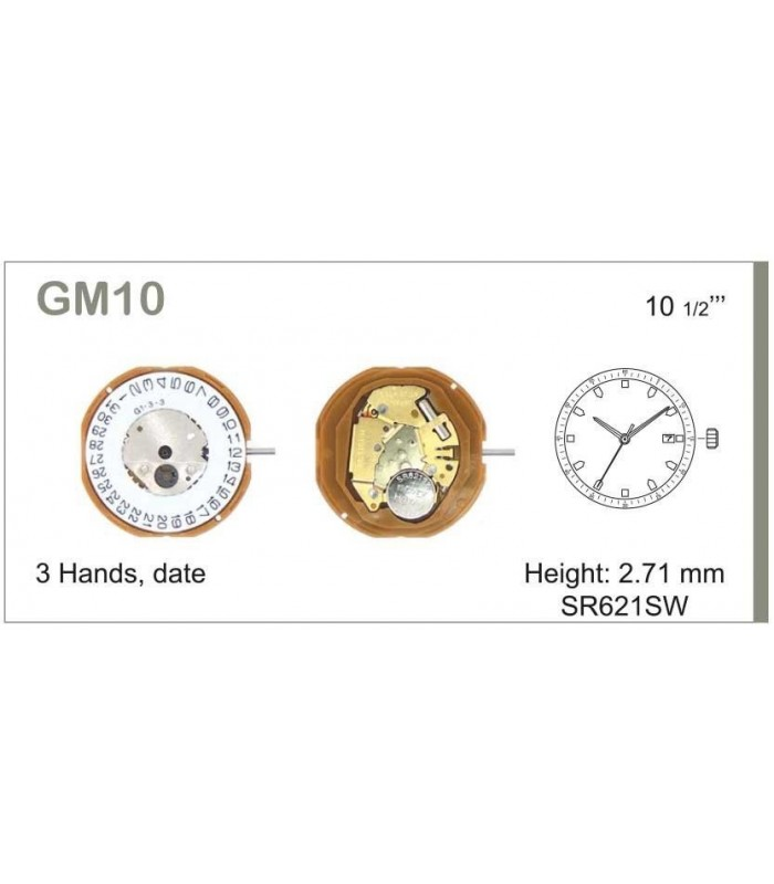 Movement for watches, MIYOTA GM10