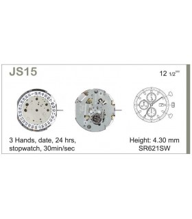 Mecanisme montre Ref MIYOTA JS15