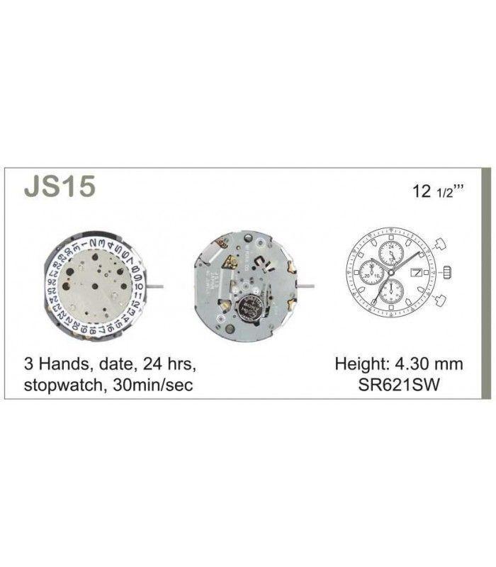vements de montre, MIYOTA JS15