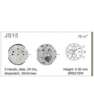 Maquinaria de reloj Ref MIYOTA JS15