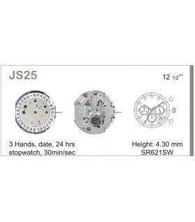 Maquinaria de reloj Ref MIYOTA JS25