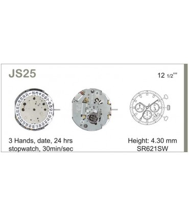 Uhrwerke Ref MIYOTA JS25