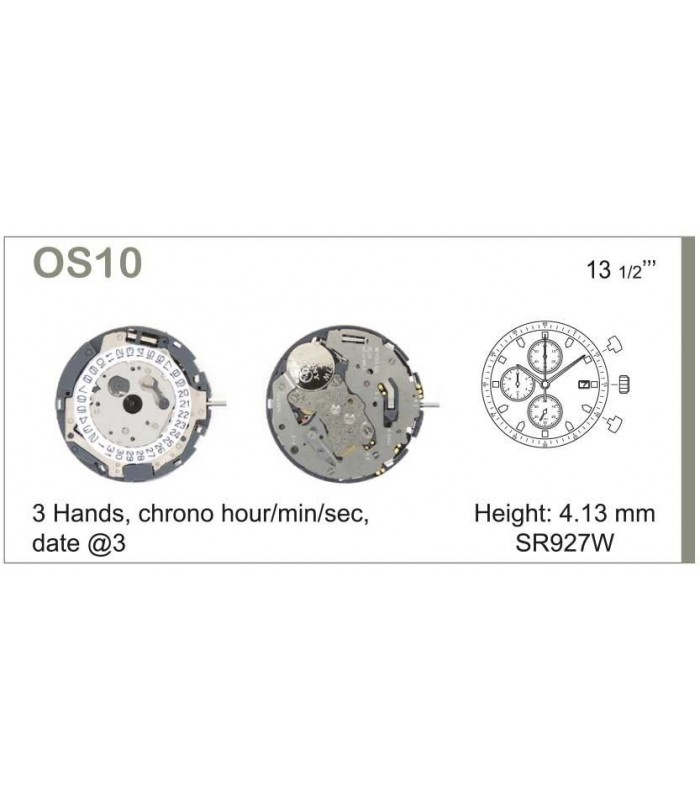 Movement for watches, MIYOTA OS10