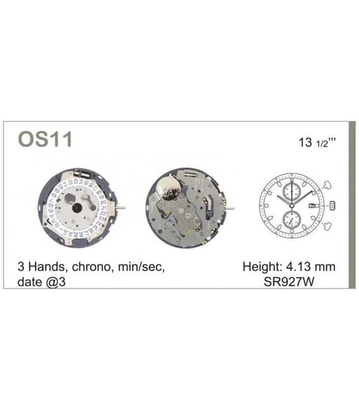Movement for watches, MIYOTA OS11