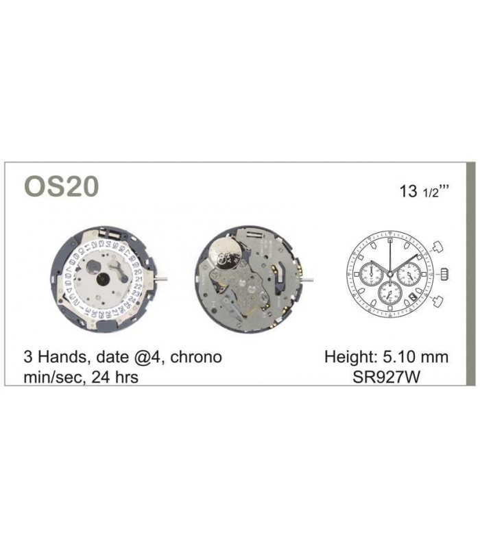 Meccanismo Orologio Ref MIYOTA OS20