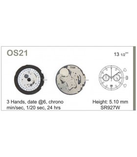 Maquinaria de reloj Ref MIYOTA OS21