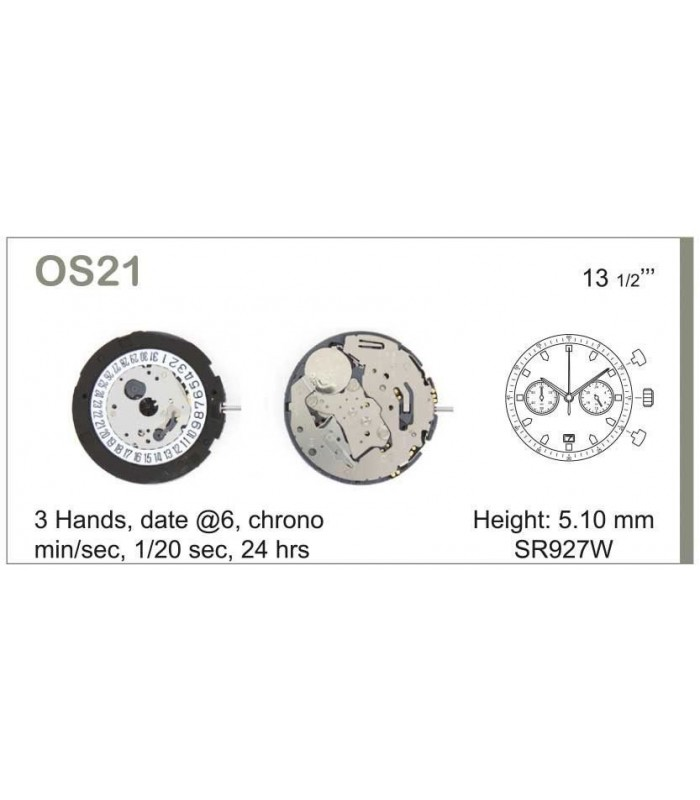 Máquinas ou movimentos para relógio, MIYOTA OS21