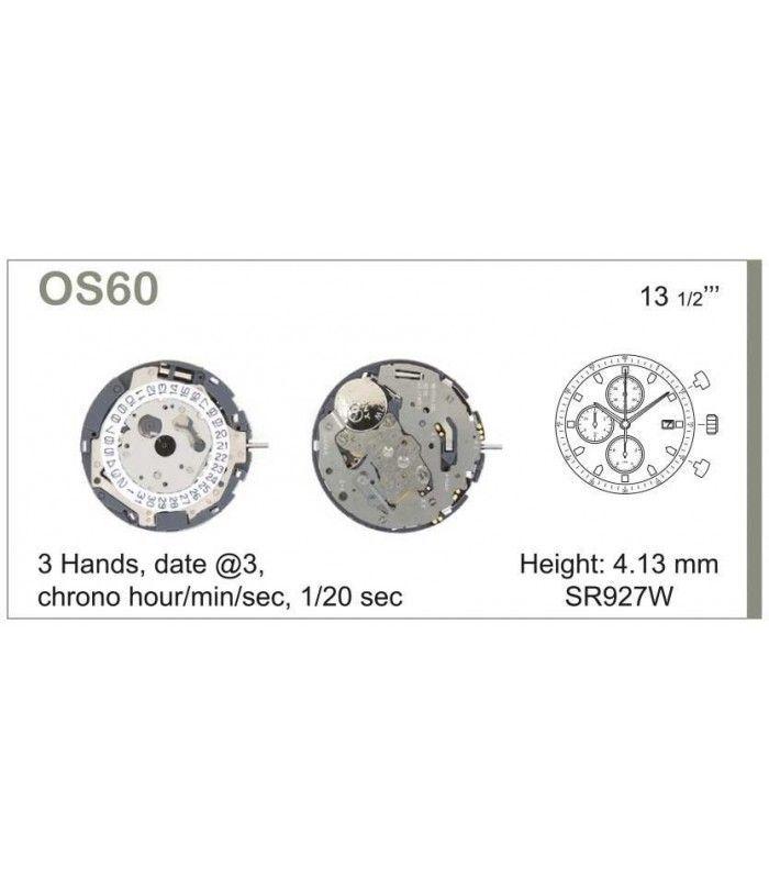 Máquinas ou movimentos para relógio, MIYOTA OS60