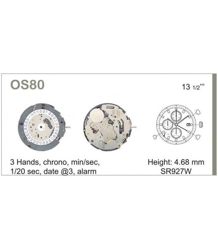 Máquinas ou movimentos para relógio, MIYOTA OS80