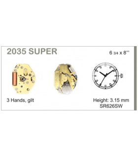 Meccanismo Orologio Ref MIYOTA 2035S